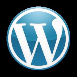 Classic blue WordPress logo