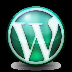 Green orb WordPress logo