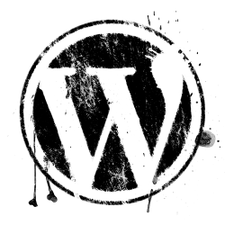 Grunge WordPress logo