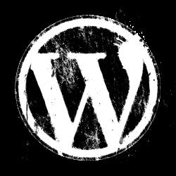 Grunge WordPress logo