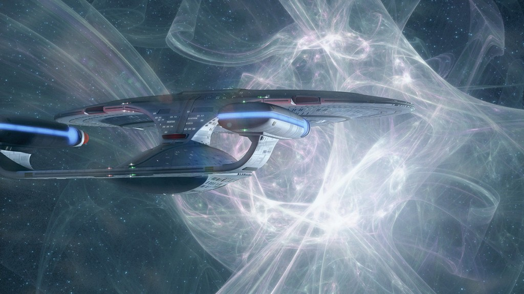 A LightWave 3D render of the Enterprise