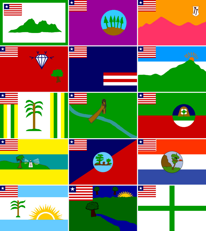 Original Liberian county flag designs